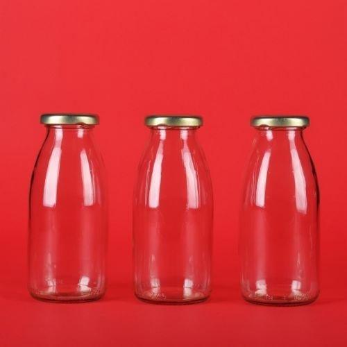 12 leere glasflaschen 200ml kleine saftflaschen weithals smoothie flaschen von slkfactory. Black Bedroom Furniture Sets. Home Design Ideas