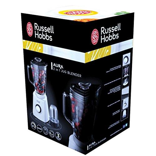 russell hobbs 18995 56 aura glas standmixer mit 0 8 ps power motor 750 w bis zu u min. Black Bedroom Furniture Sets. Home Design Ideas